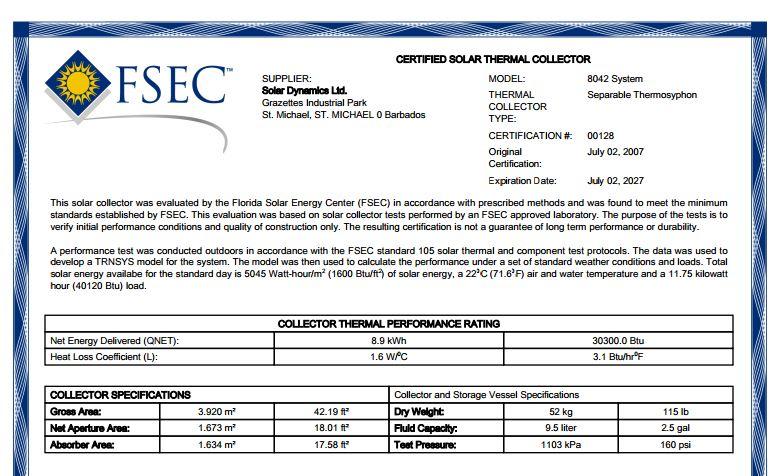 Florida Energy Centre Ratings « Solar Dynamics Ltd